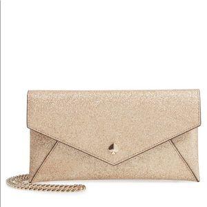 Kate Spade glitter leather crossbody clutch/wallet